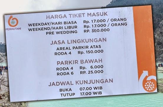 Harga Tiket masuk Kawah Putih Bandung Terbaru 2014