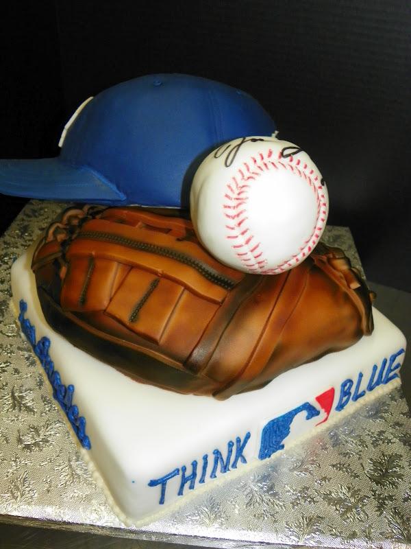 dodgers baseball cakes
