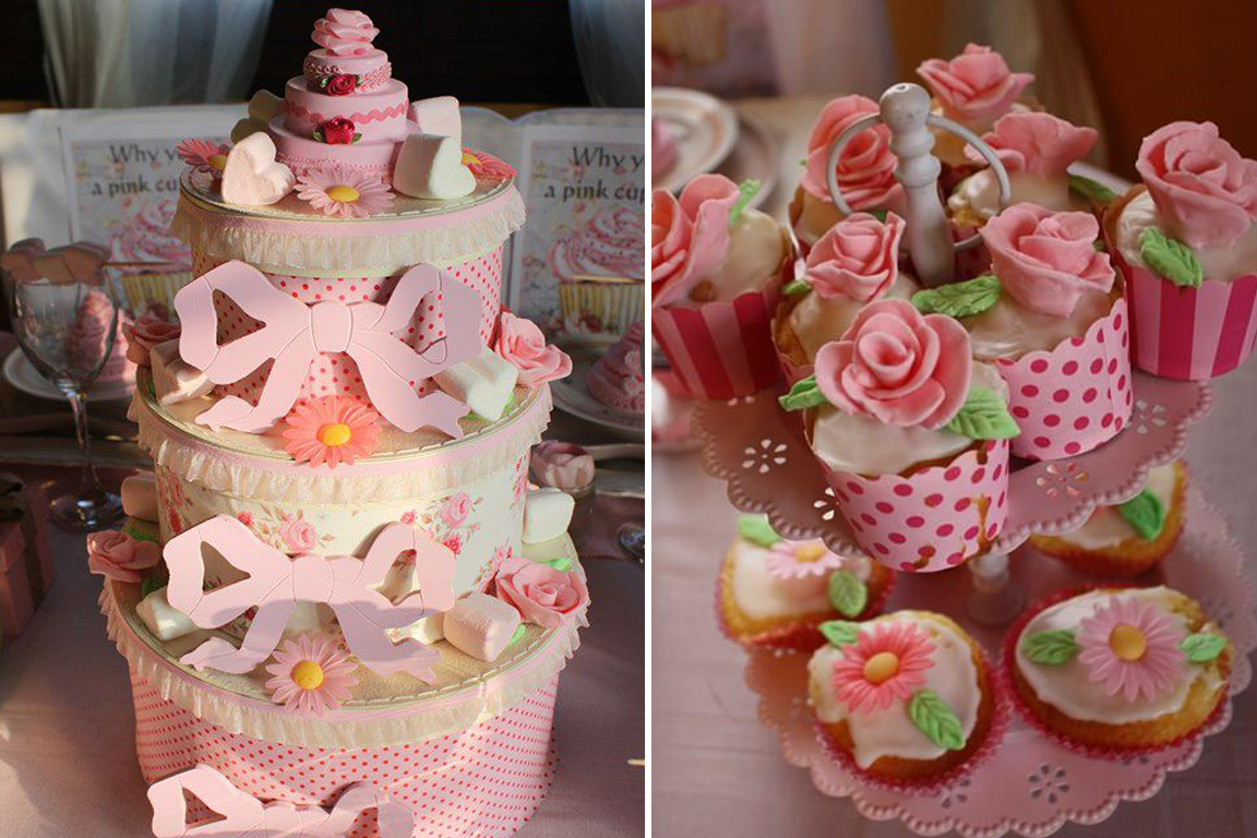 cupcakes et piece montee