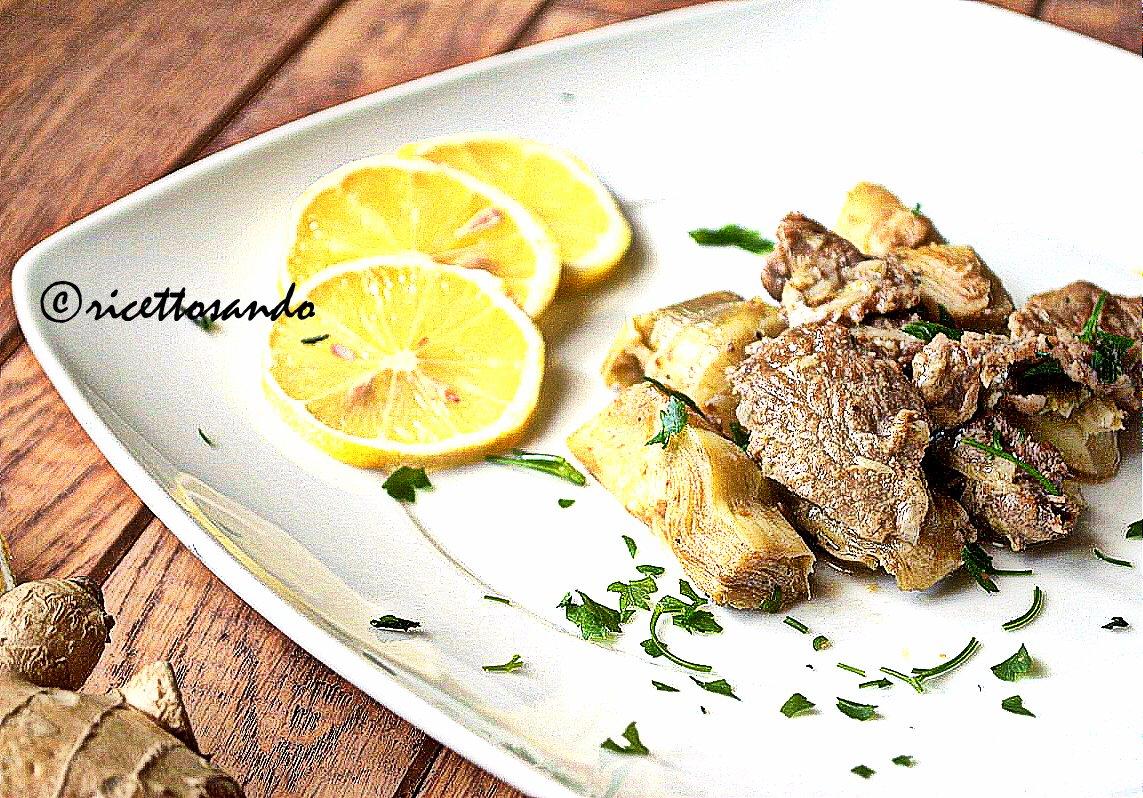Straccetti di manzo con carciofi ricetta secondi di carne con verdura