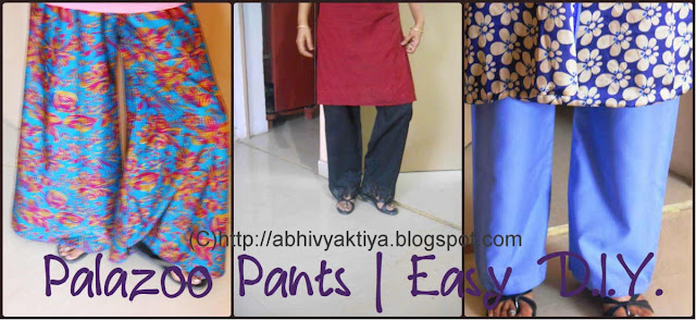 how to draft, cut and sew Palazzo pants with yourself