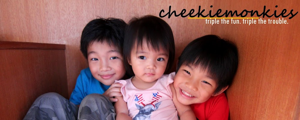 Cheekiemonkies: Triple the fun. Triple the Trouble.