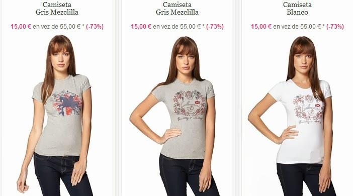 Camisetas de manga corta en oferta