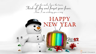 Free Download Happy New Year 2012 Snowman Wallpaper