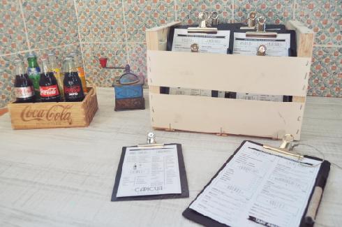 cartas restaurante originales pizarra vintage