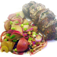 Mario Batali's Beef Braciole With Potato Salad 10.12.11