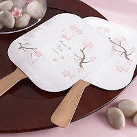 Personalized Cherry Blossom Fans with Bamboo Handles