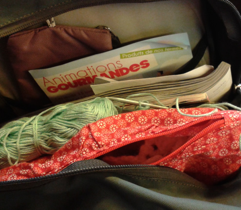 #crochetonthego on the Thalys | Happy in Red