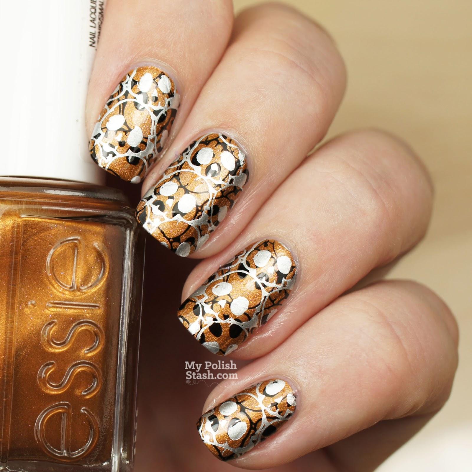 skull halloween nail art