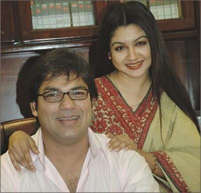 Joya ahsan with he ex husband Faisal