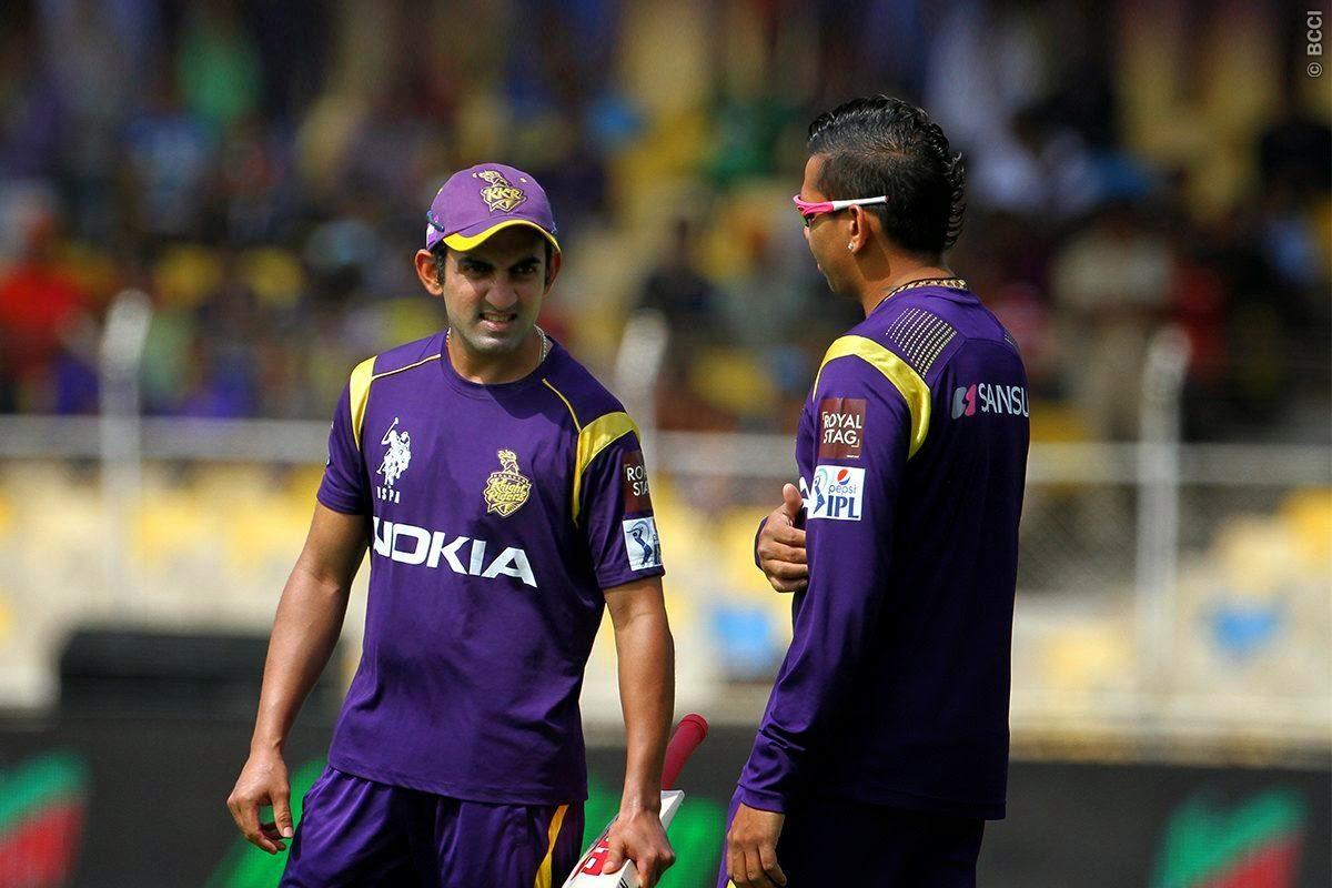Sunil Narine and Gautam Gambhir, IPL 2015
