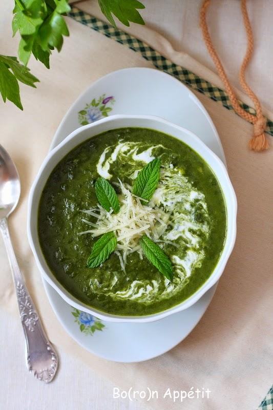 Zupa ze świeżego szpinaku