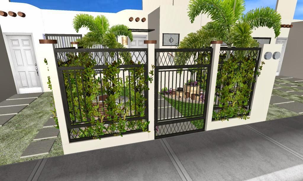 Jardines modernos frente a la casa v rias - Diseno jardines 3d ...
