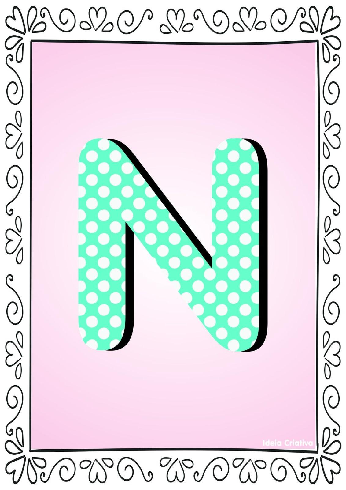 Alfabetos ideia criativa alfabeto po colorido com borda para baixar gr tis em pdf - Letras grandes decoradas ...