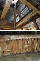 Detalles de las obras de restauración y rehabilitación del interior del edificio histórico de calle Marqués de Guadiaro 3