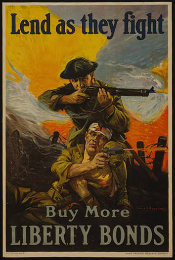 classic posters, free download, graphic design, military, propaganda, retro prints, united states, vintage, vintage posters, war, Lend as They Fight, Buy More Liberty Bonds - Vintage War Military Poster