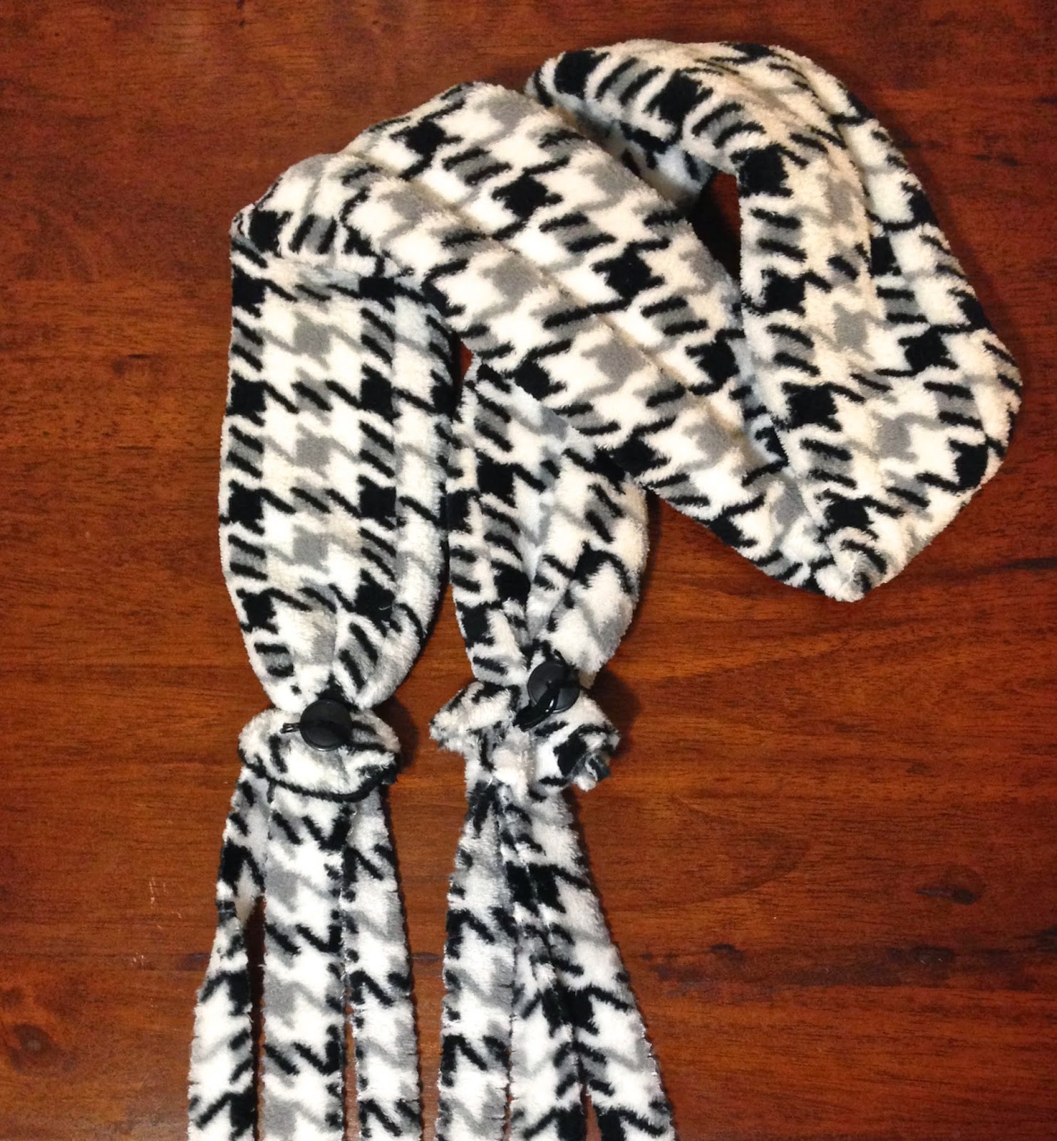 fleece houndstooth fringe scarf lisa fulmer