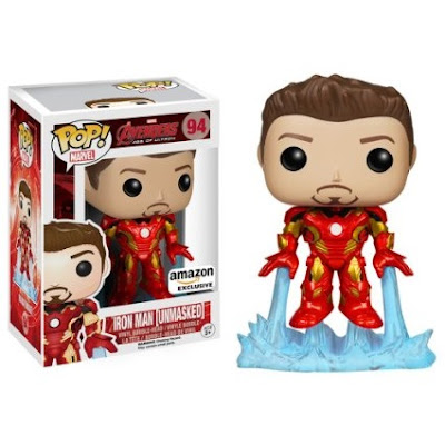 "Amazon Exclusive Avengers: Age of Ultron ""Unmasked"" Iron Man Pop! Marvel Vinyl Figure by Funko"