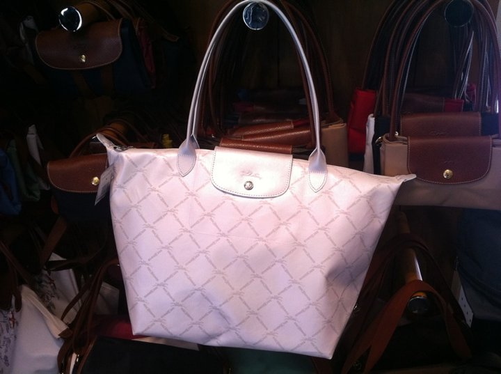 long champ pink tote