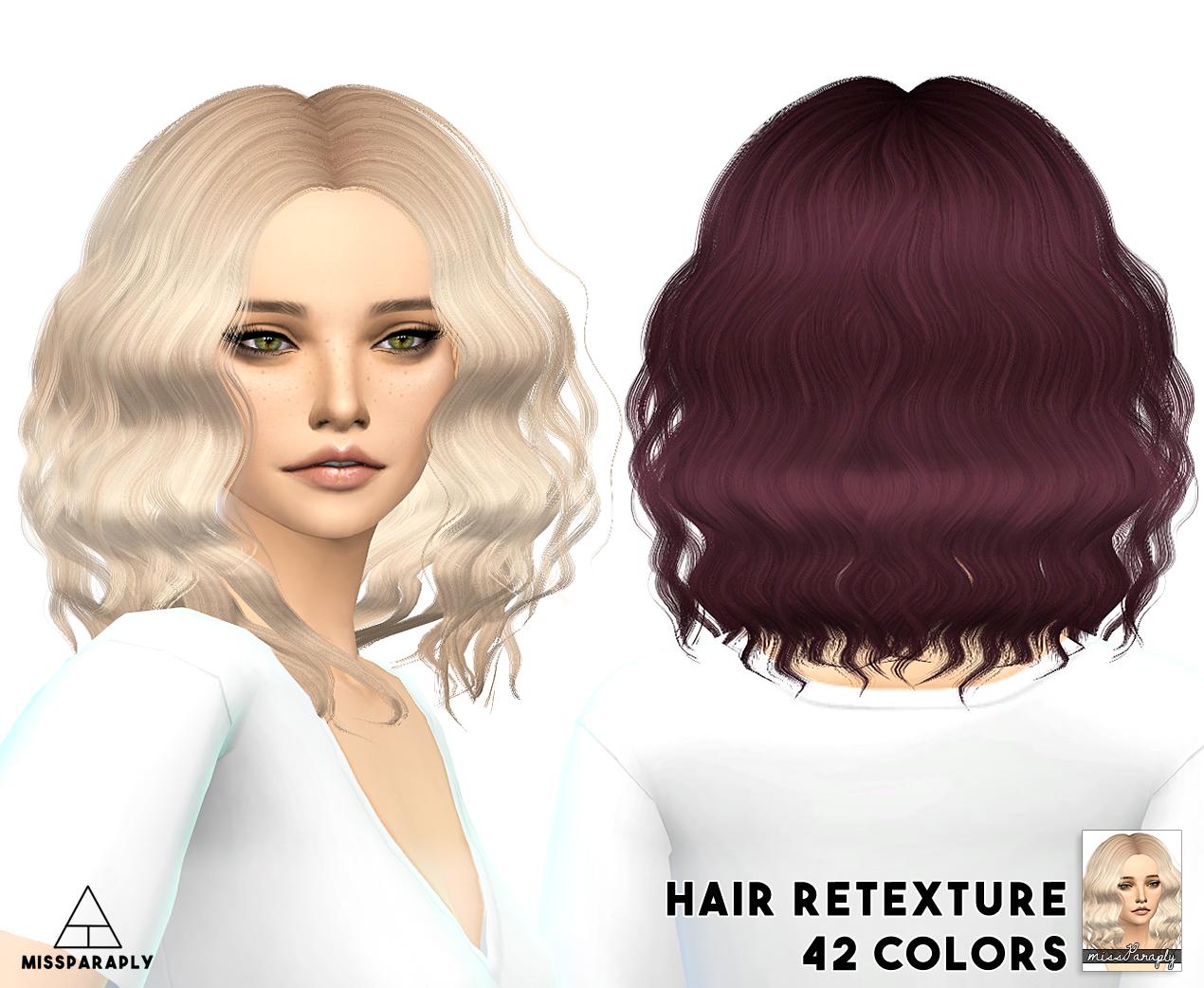 My Sims 4 Blog Sintiklia Hair Retexture By Missparaply