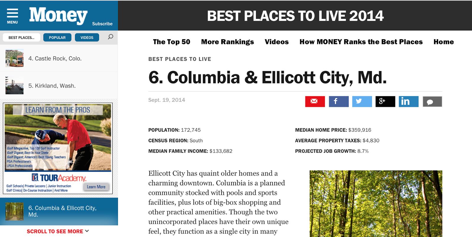 Autumn Walk Emerson Columbia Md Money Magazine Top 10