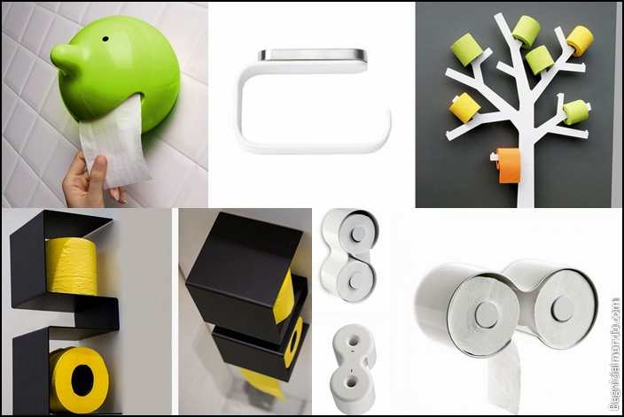 Idee originali per sistemare la carta igienica stile bagno - Porta carta igienica da terra ...