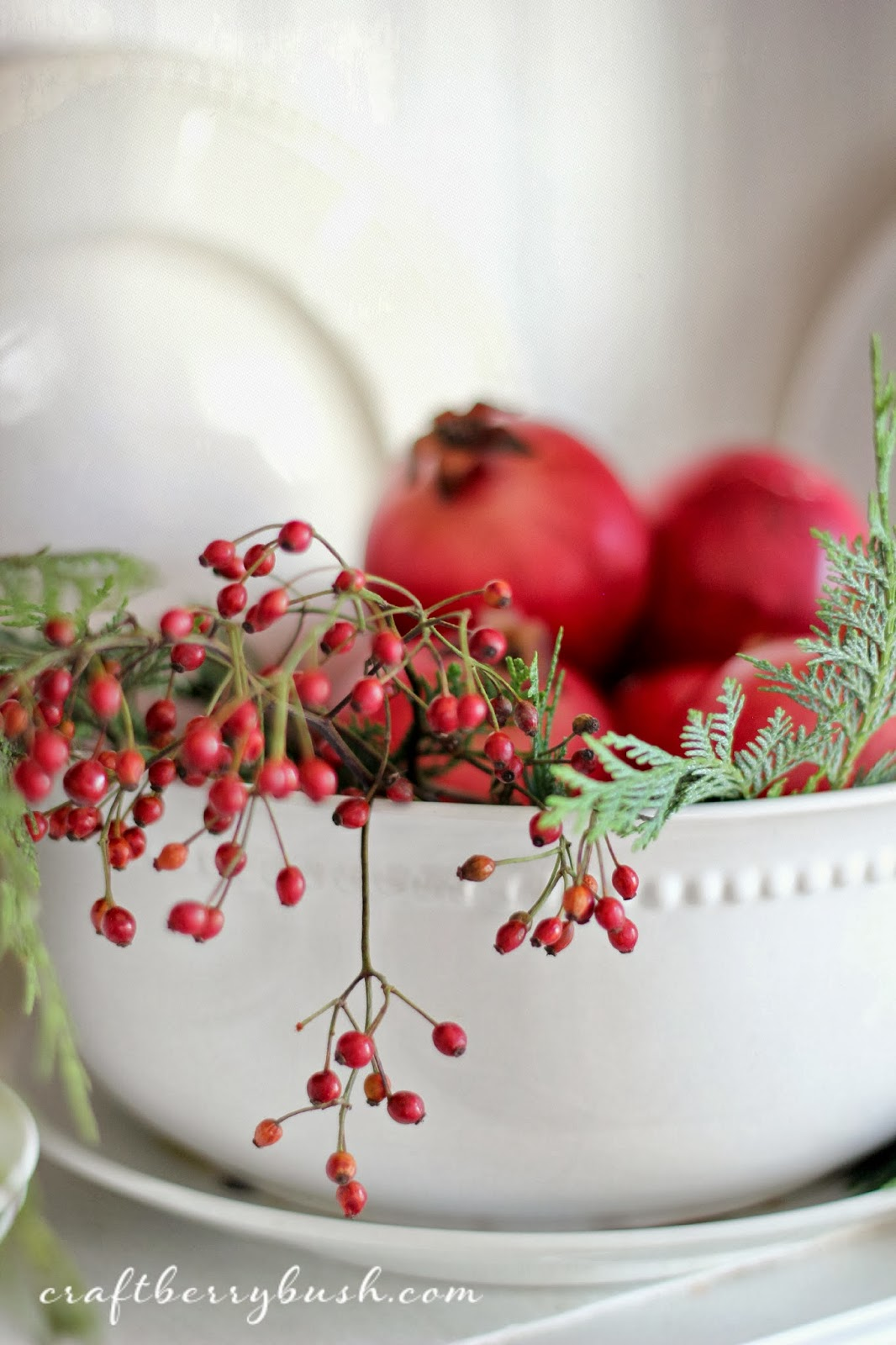 Craftberry Bush A Farmhouse Christmas Christmas Hutch and 8 Styling Tips