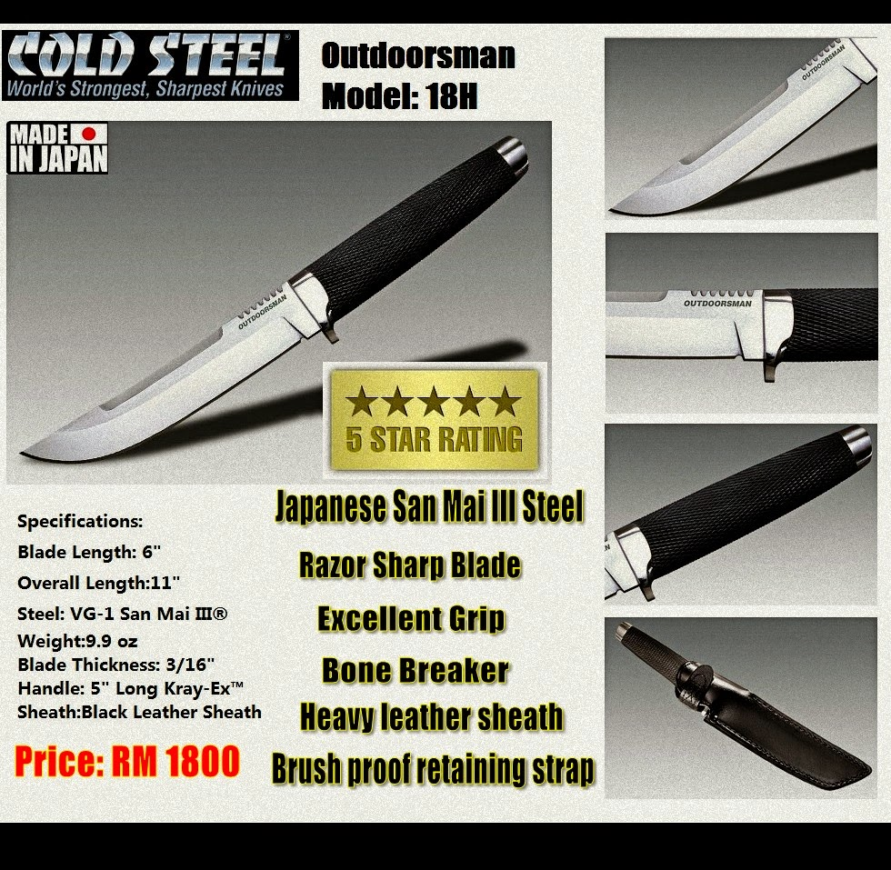 Cold Steel Outdoorsman 18H @ RM 1800 Limted Stock!!!