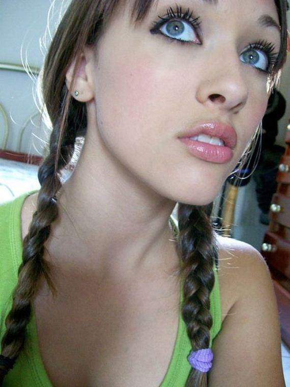 Beautiful Lips Of Cute Girl