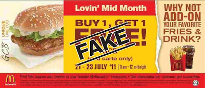 GCB McDonald Buy 1 get 1 Fake