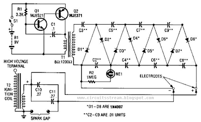 High-Voltage Supply Circuit Diagram