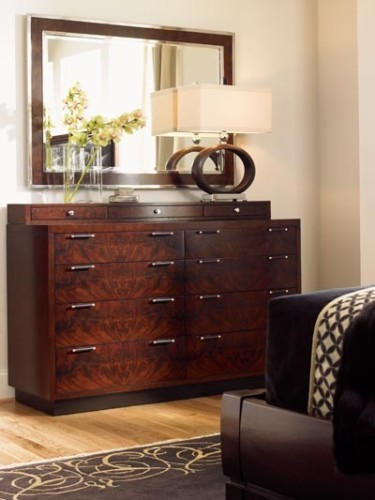 bedroom dressers with mirror. Trump Home Central Park West Side Double Dresser and Mirror Set in Dark  Brown Phillips Philes My New Bedroom Chest