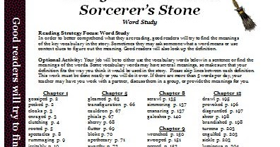 Classroom Freebies: Harry Potter and the Sorcerer's Stone ...