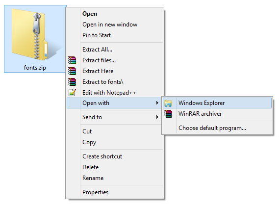 how to open zip files on windows 7 free
