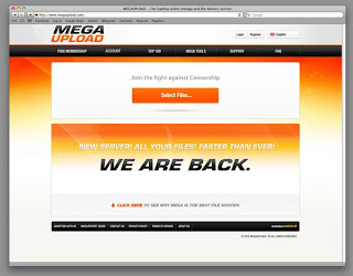 Suposta tela do Megaupload que poderia voltar a operar