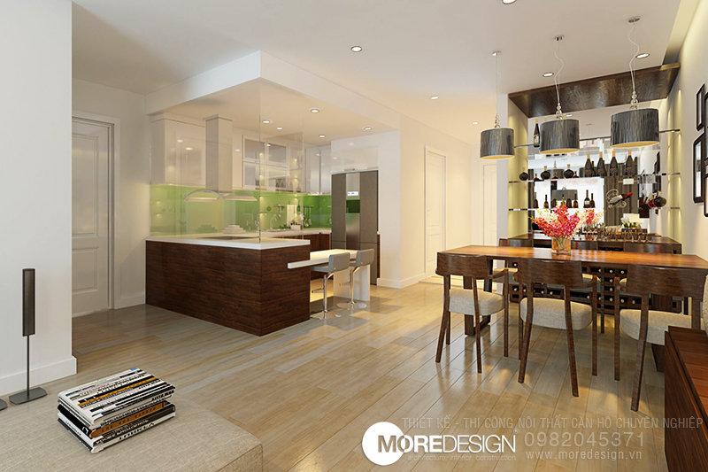 Nội thất căn hộ chung cư ICON56 - Thiết kế bếp và phòng ăn