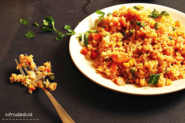 how to cook Corn and Shrimp Fried Rice