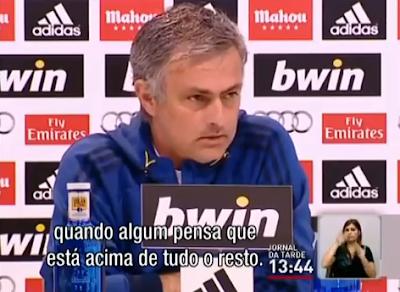 Mourinho critica Cristiano Ronaldo e Casillas
