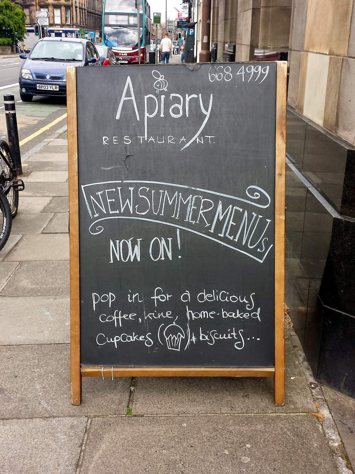 Apiary restaurant Edinburgh