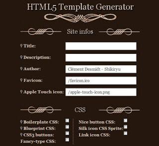 Tempat-tempat untuk membuat template blog - Template Generator Online