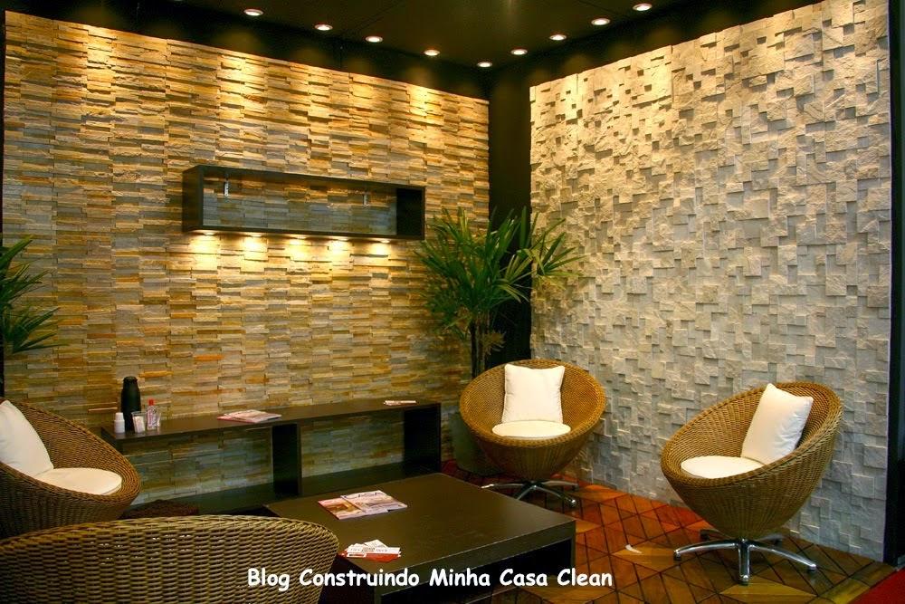 Construindo minha casa clean pedras decorativas for Casas decorativas interiores