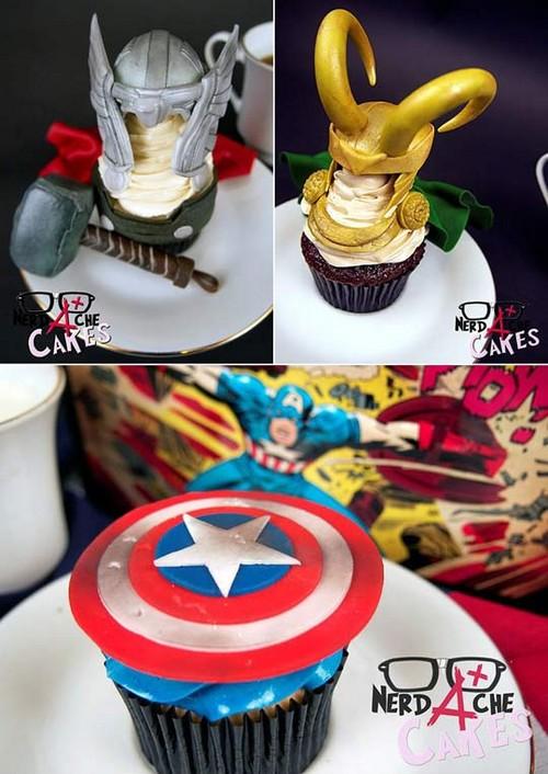 Captain America Cupcakes Cake