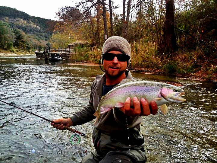 Fly fishing texas after the rain bows for Fly fishing texas