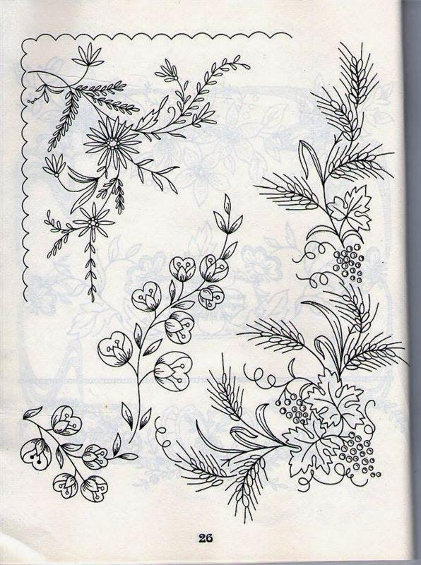 best Dibujos De Guirnaldas De Flores Para Bordar image collection