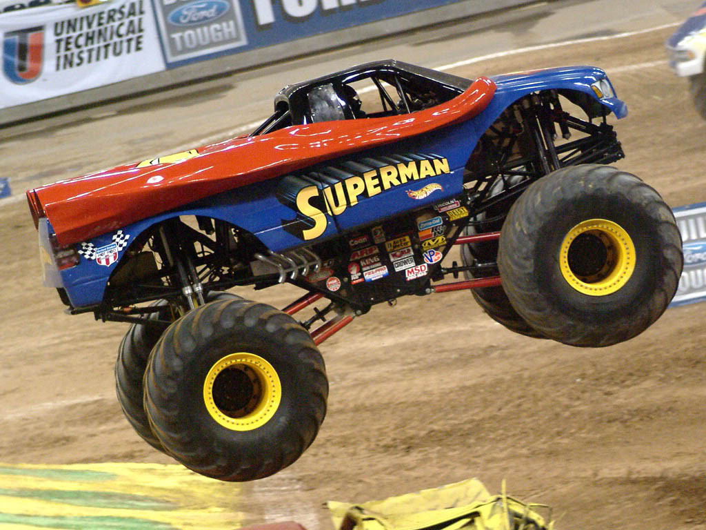 superman monster truck coloring pages - photo#22