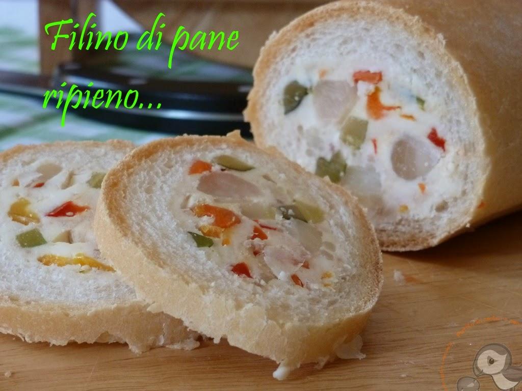 filino di pane ripieno un antipasto semplice da preparare in anticipo