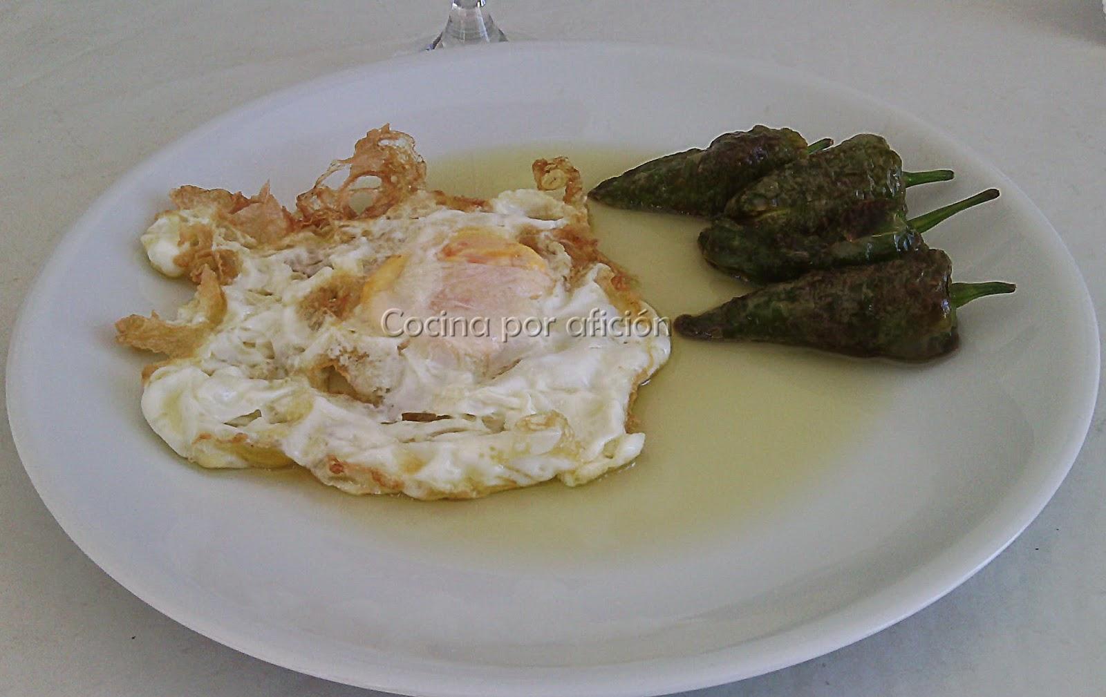 huevos, pimientos, Padrón
