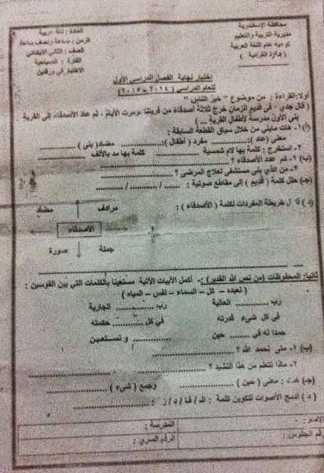 امتحانات كل مواد الصف الثالث الابتدائي الترم الأول2015 مدارس مصر حكومى و لغات 10891521_76791868662
