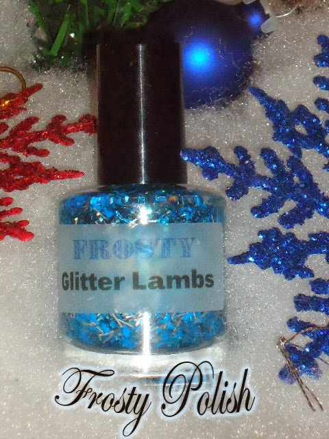 Frosty Blue Glitter Nail Polish