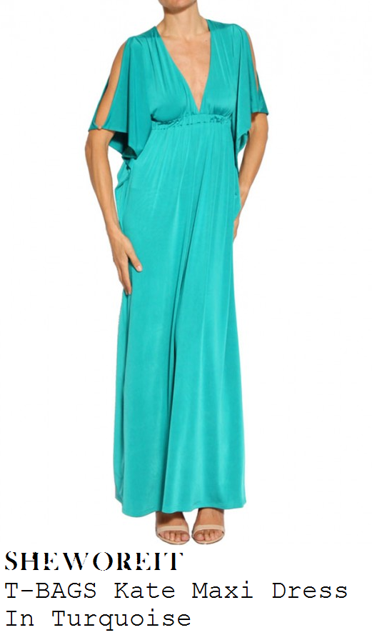 sam-faiers-turquoise-split-sleeve-plunge-front-maxi-dress
